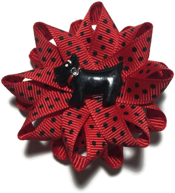 Scottie Dog Handmade Hair Bow