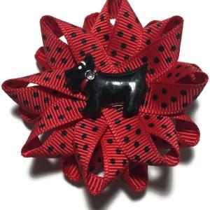Scottie Dog Handmade Hair Bow