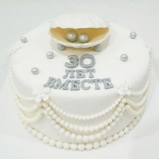 торт на серебрянную свадьбу