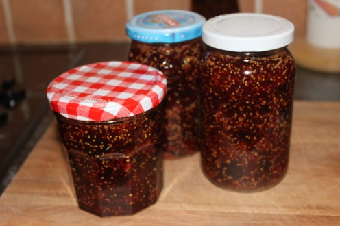 fig jam in jars