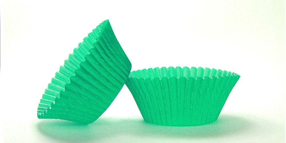 500pc Solid Green Color Standard Size Cupcake Baking Cups