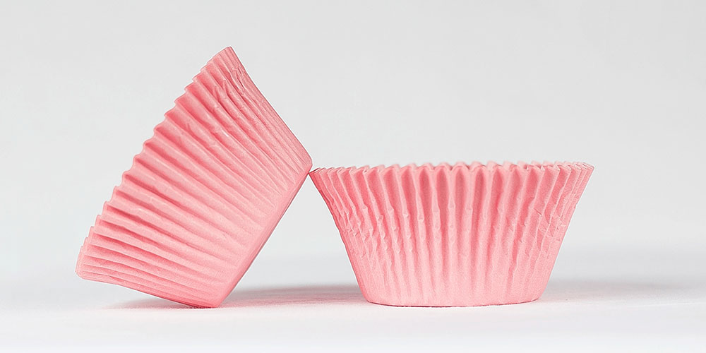 50pc Solid Light Pink Color Standard Size Cupcake Baking