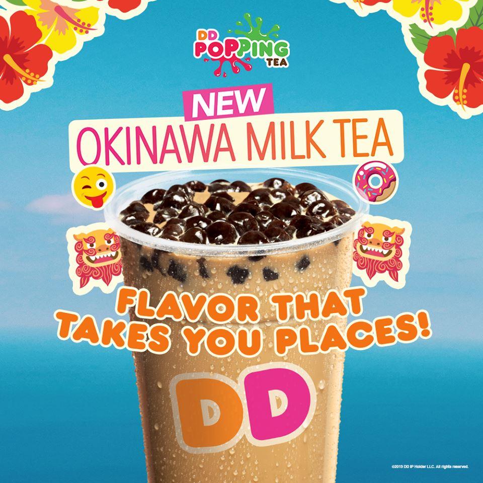 Dunkin Donuts Okinawa Milk Tea