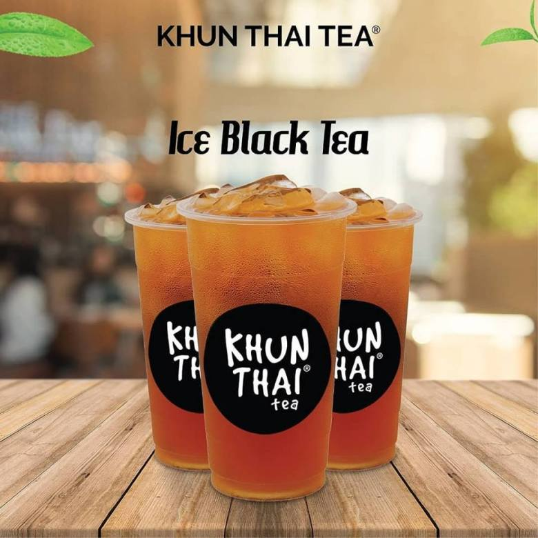 khun thai tea ice black tea