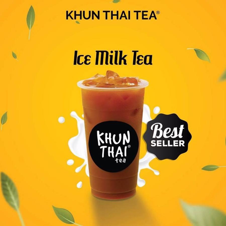 khun thai tea ice milk tea