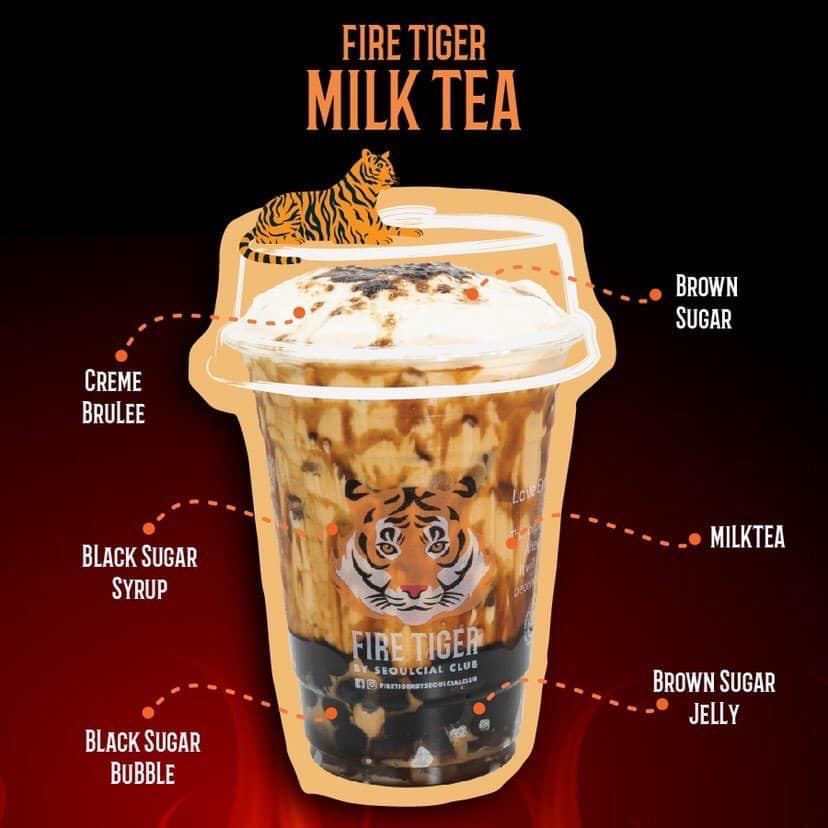 Fire Tiger Milk Tea Best selling drink