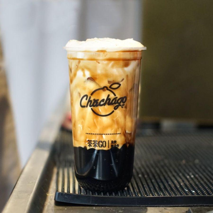 chachago best seller brown sugar pearl milk tea