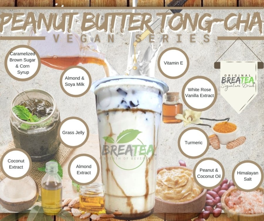 BreaTea Peanut Butter Tong Cha Vegan Series