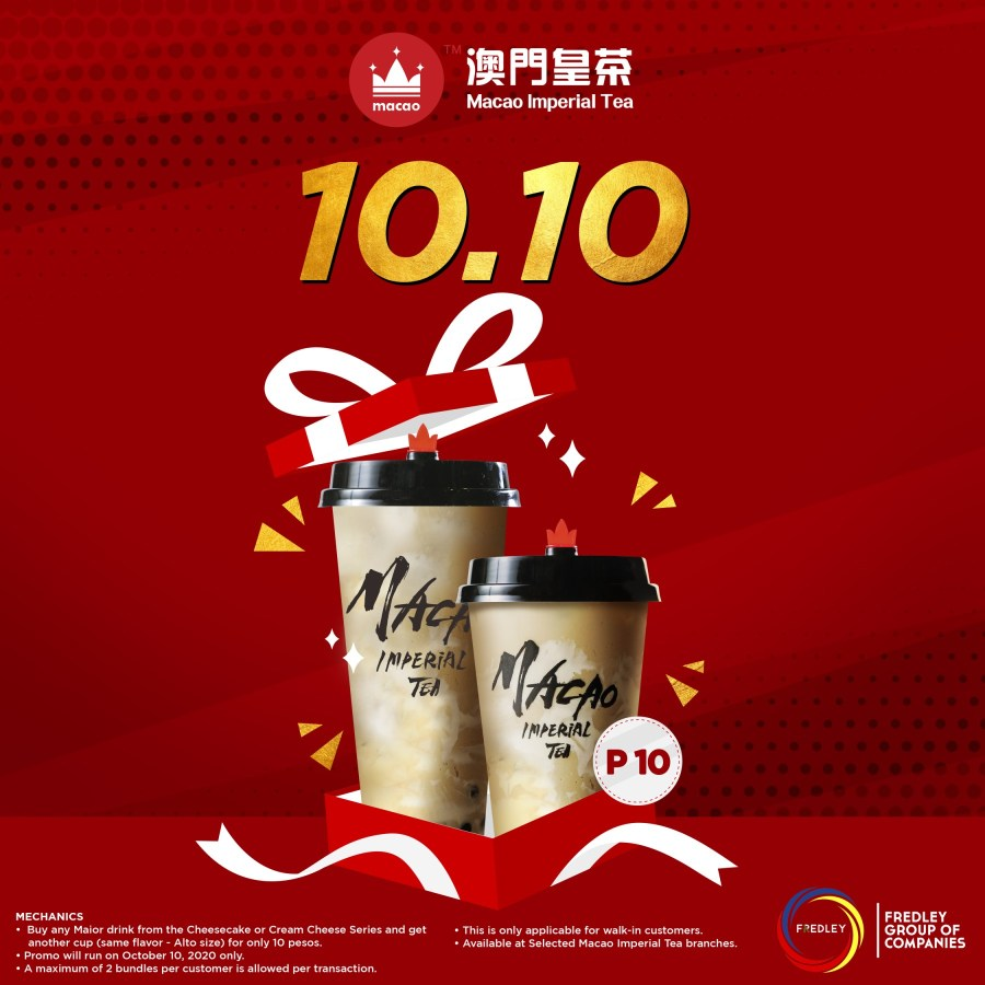 Macao Imperial Tea October 10 2020 treat