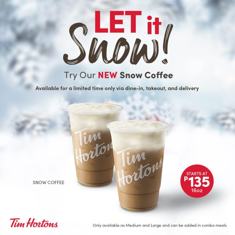 Tim Hortons Snow Coffee Philippines