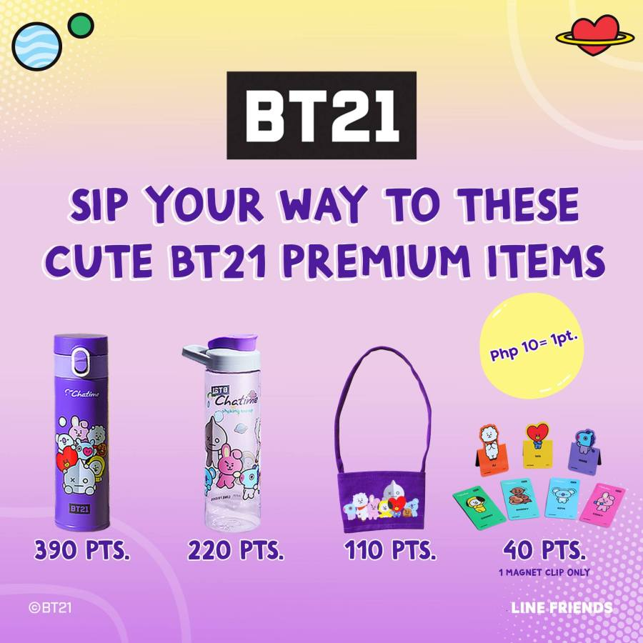 BT21 Merch Chatime Loyalty Points