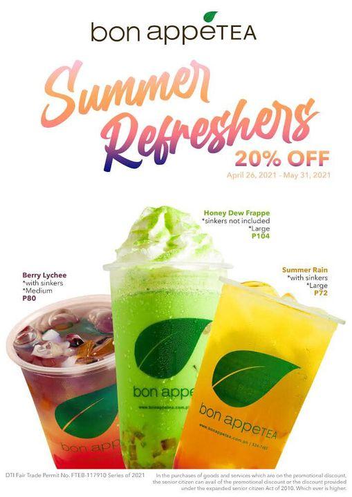 Bon Appetea Promo 20% OFF on Summer Refreshers