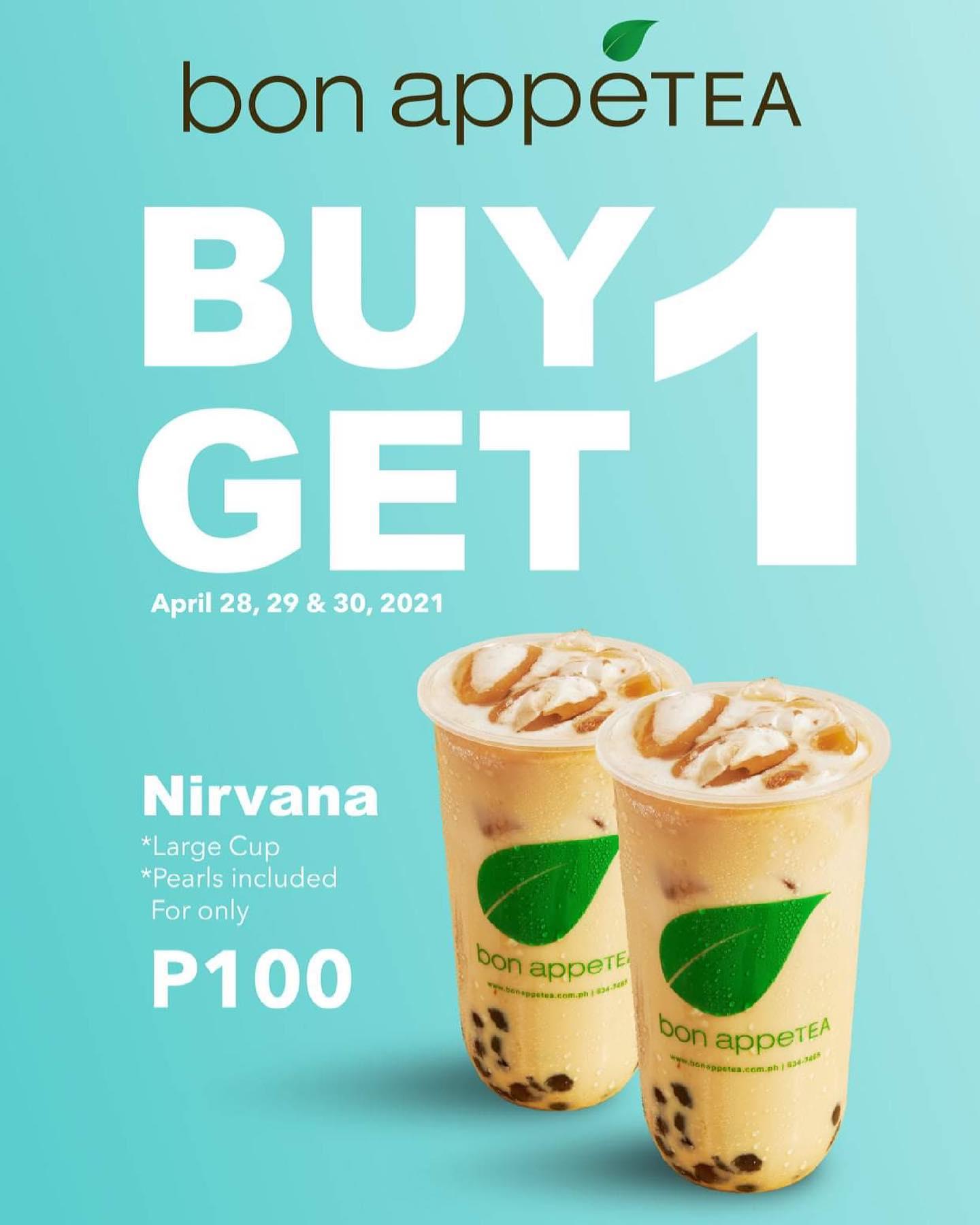 Bon Appetea Promo Buy 1 Get 1 Nirvana Milk Tea