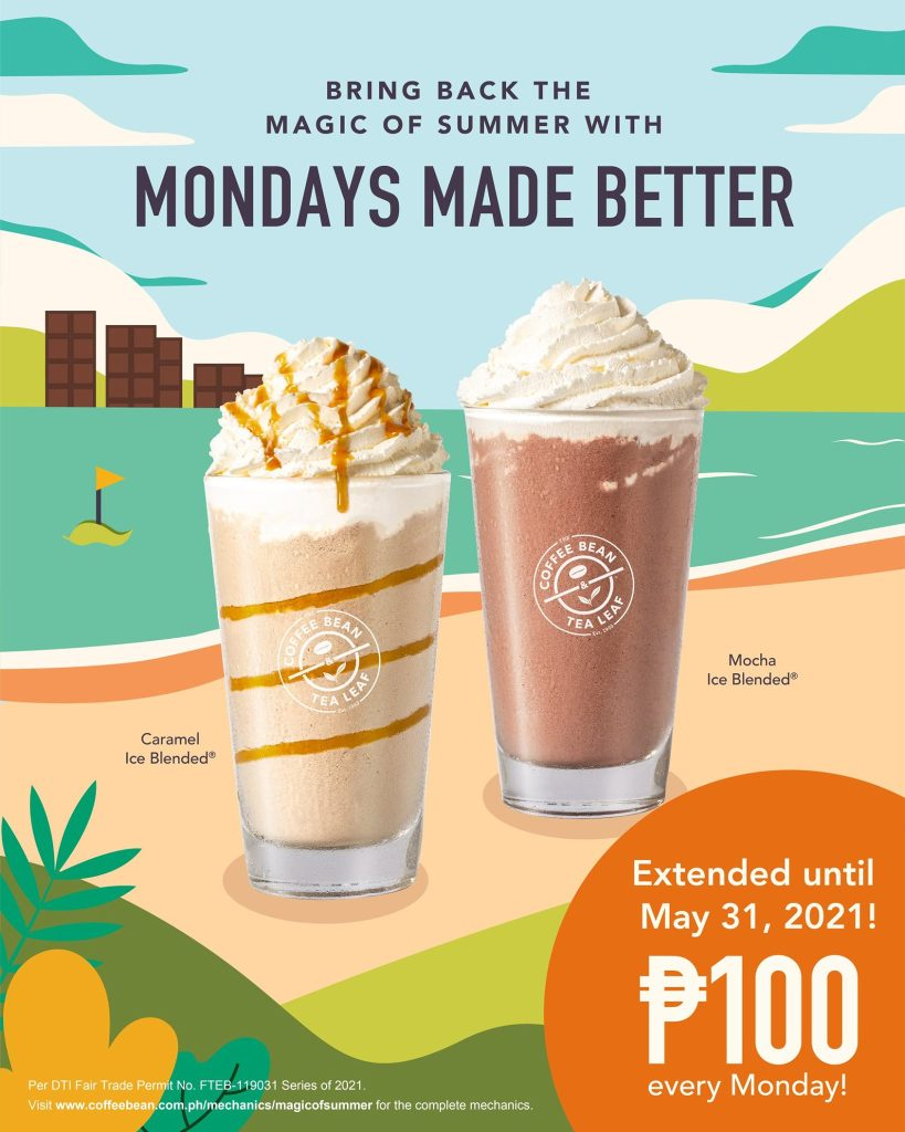 CBTL Monday Promo Extended until May 31, 2021