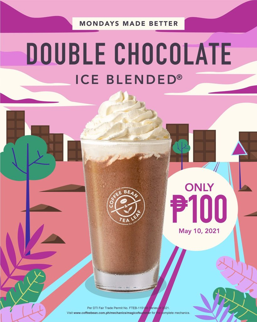 Coffee Bean & Tea Leaf Monday Promo P100 Double Chocolate Ice Blended - May 10 2021