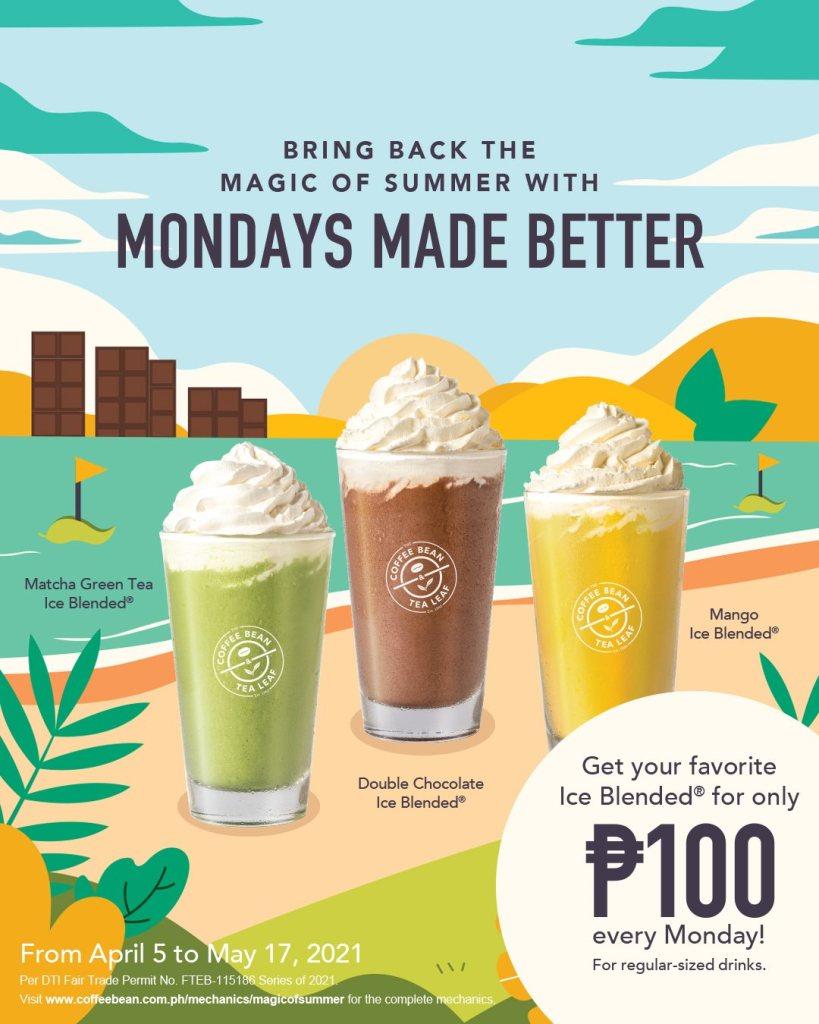Coffee Bean & Tea Leaf Monday Promo P100 Ice Blended