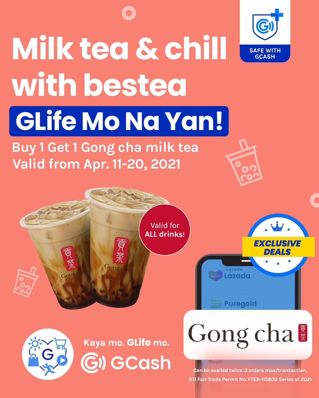 Gong Cha GCash Promo Buy 1 Take 1