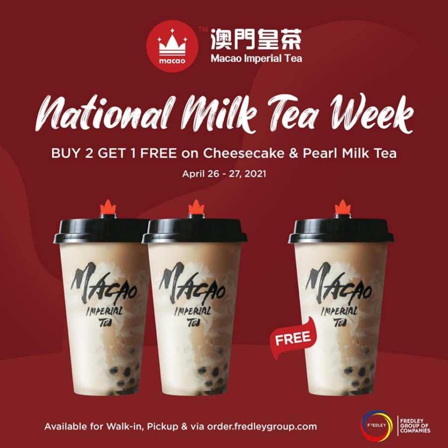 Macao Imperial Tea National Milk Tea Week Promo