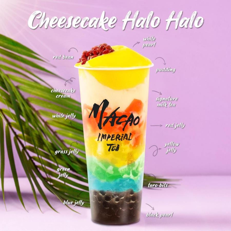 Macao Imperial Tea Philippines New Cheesecake Halo Halo