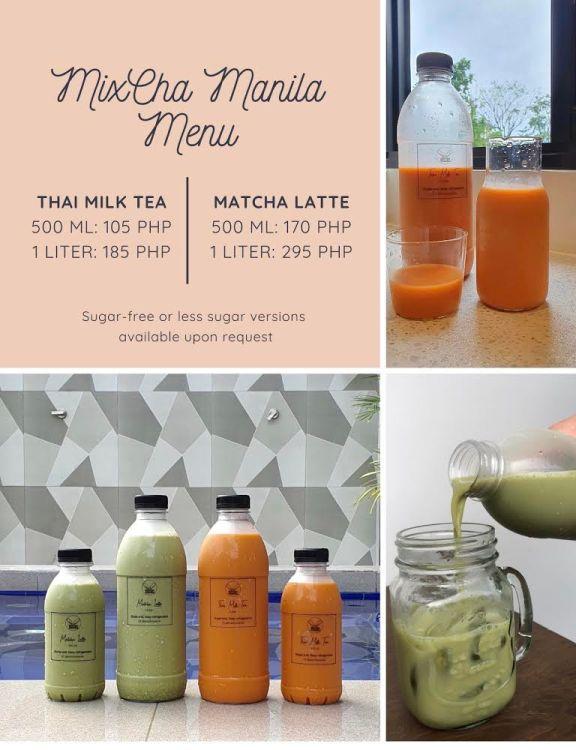 MixCha Manila Milk Tea Menu