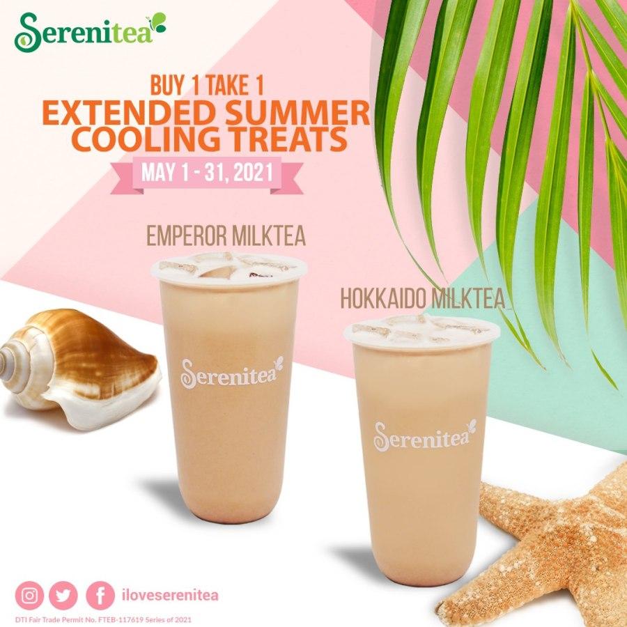 Serenitea Buy One Take One Hokkaido and Emperor Milk Tea
