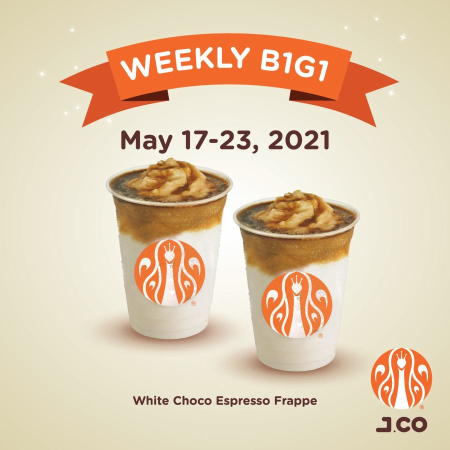 J.CO Weekly Promo May 2021 White Choco Espresso Frappe