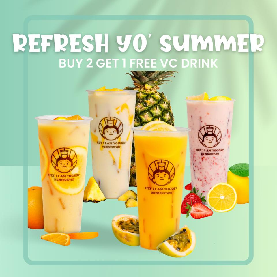 Yogost Philippines Promo Buy Any 2 Yogost Drink and Get 1 FREE VC