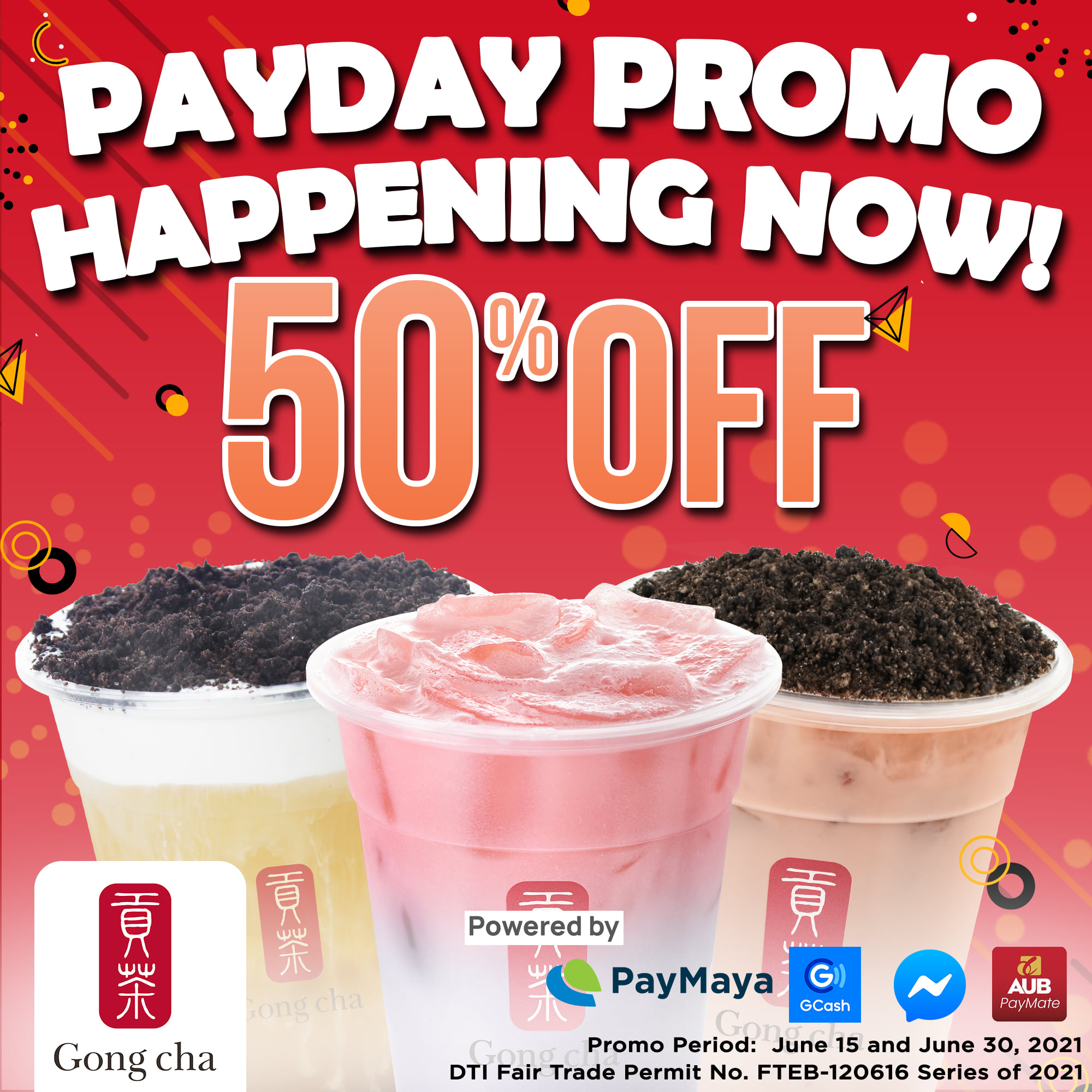 Gong Cha Payday Promo