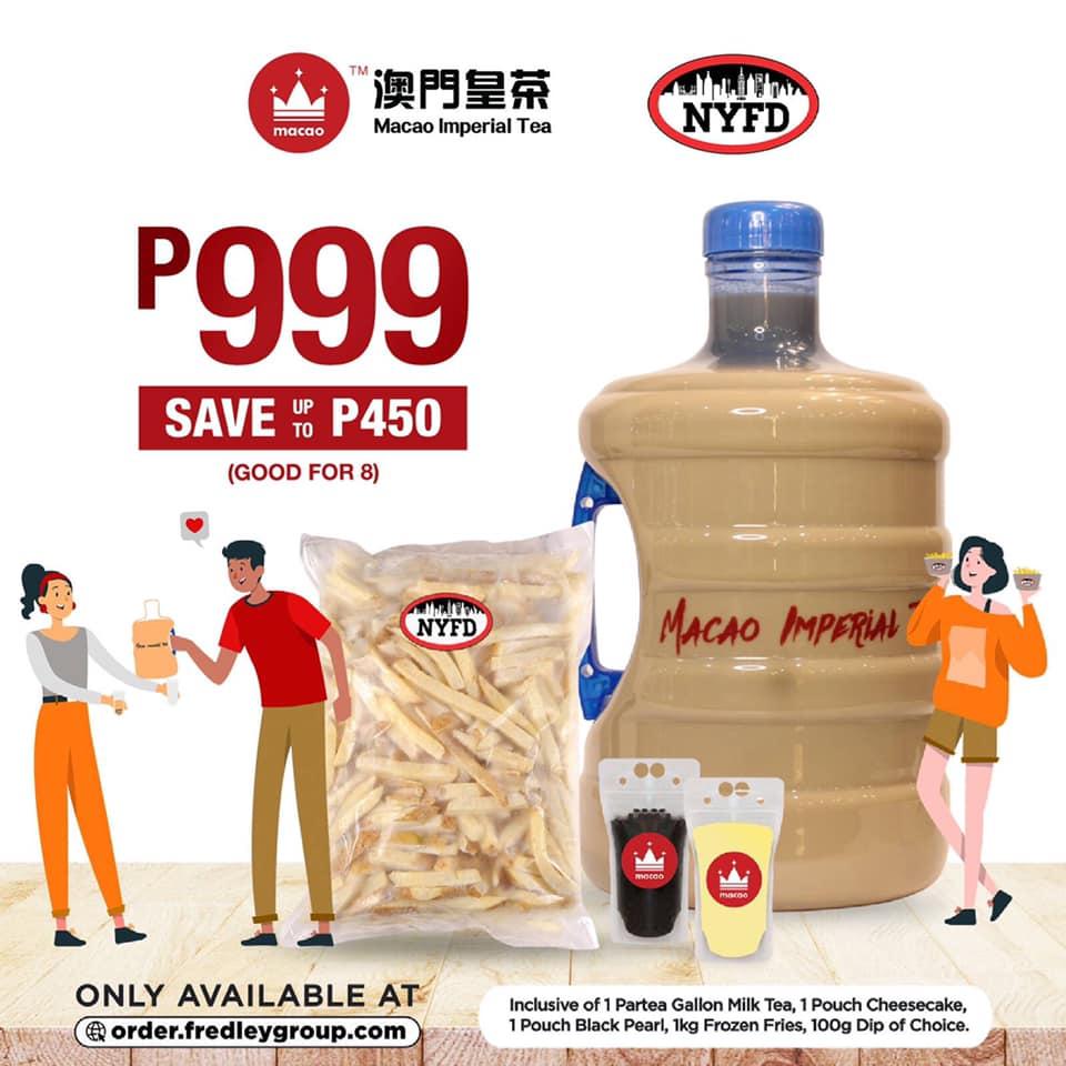 Macao Imperial Tea Promo Partea Gallon plus 1kg Fries