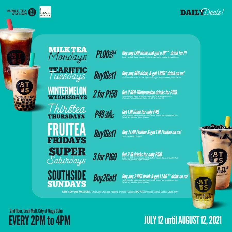 Bubble Tea Station Naga Cebu Daily Deals Promo