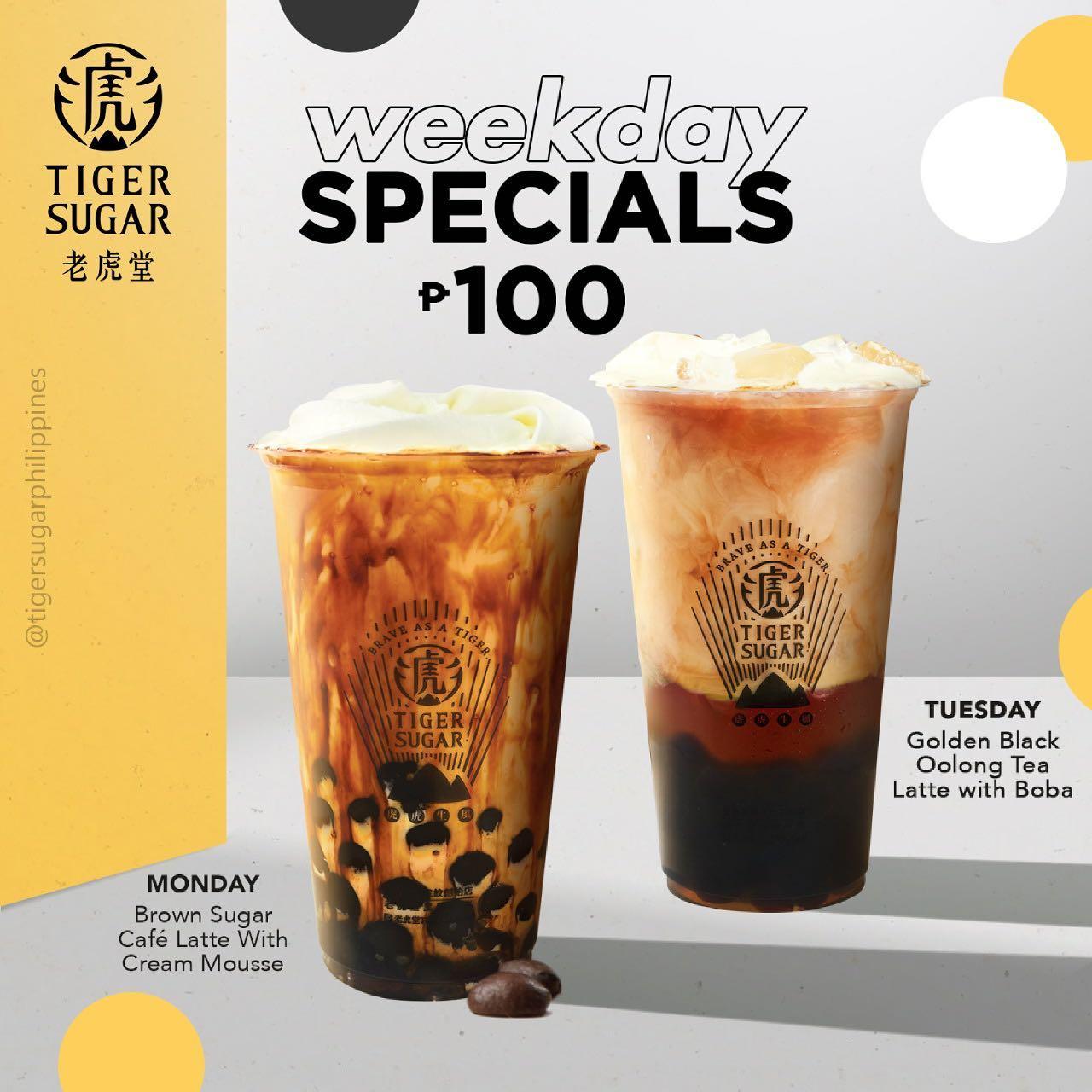 Tiger Sugar Weekday Specials Promo