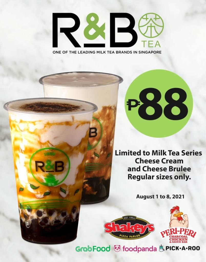 R&B Tea 88 Pesos Milk Tea Promo