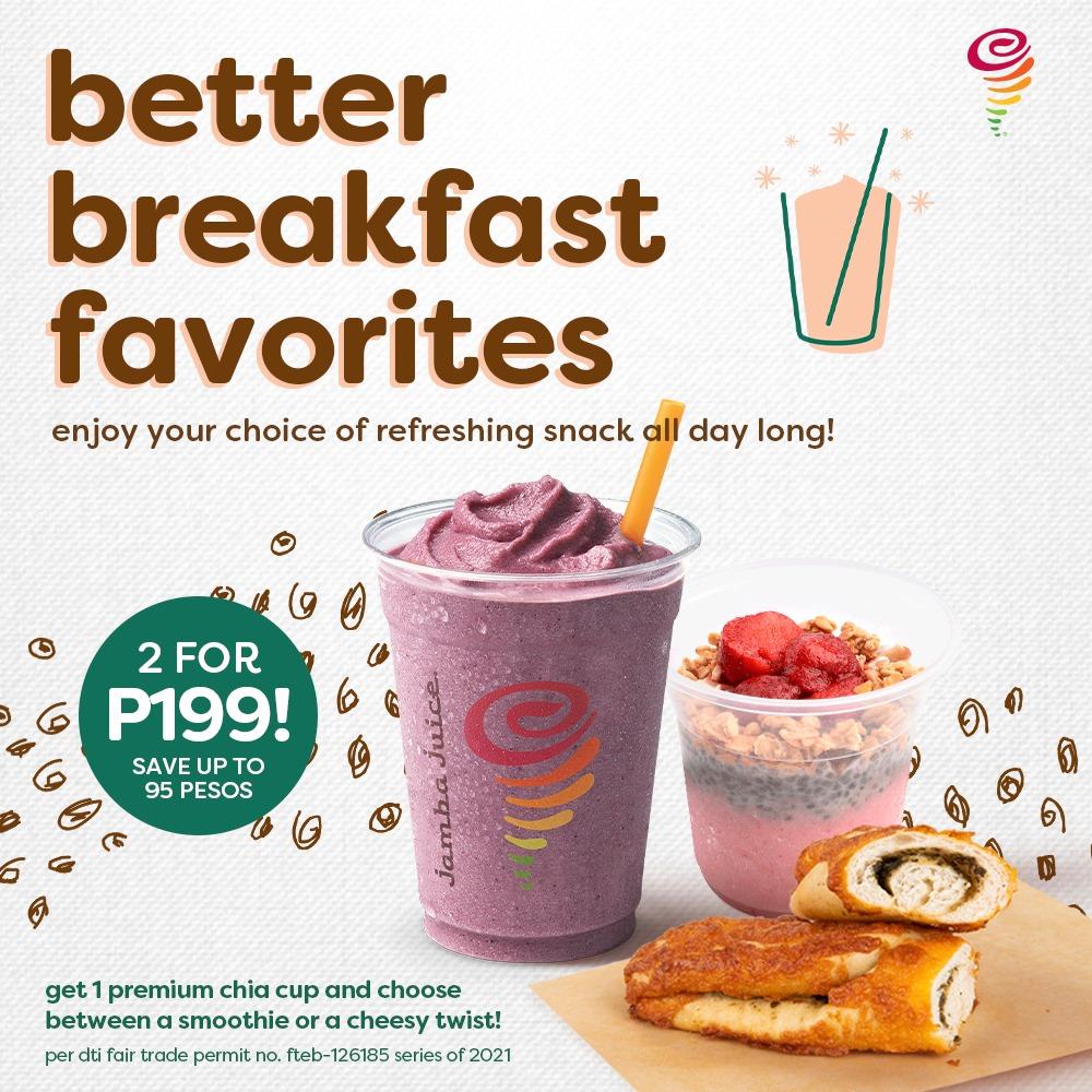Jamba Juice Better Breakfast Favorites Promo