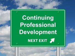 """CONTINUING PROFESSIONAL DEVELOPMENT"" Sign (training education)"