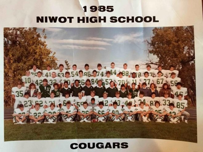 Niwot High School Football-1985