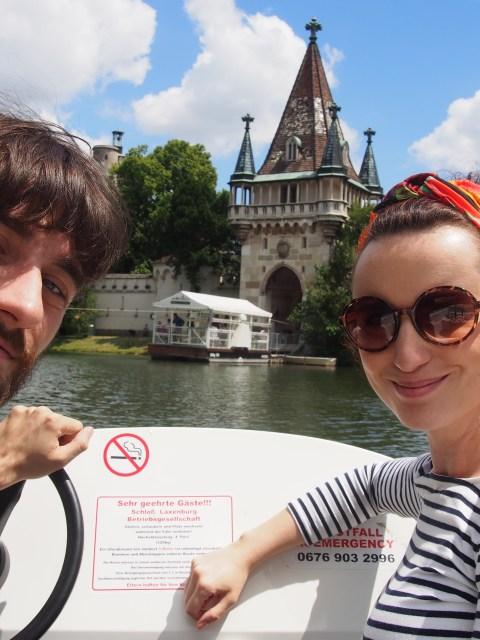 Laxenburgský zámok: Selfie na člne