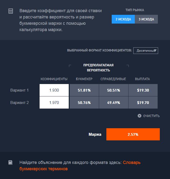 букмекерские ставки на спорт через интернет от 50 рублей