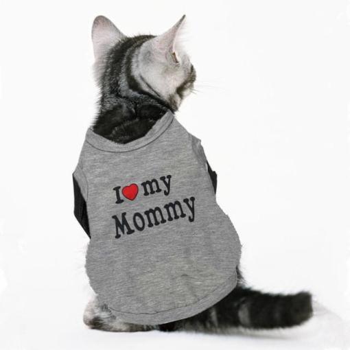 Tricou pentru pisici I love My Mommy