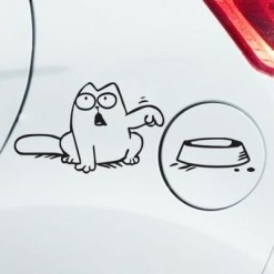 Sticker pentru masina cu pisica Simon's Cat