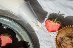 Cupcakes med jordbær og sort peber 095