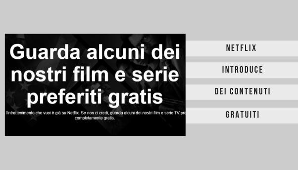 Netflix: film e serie gratis, senza abbonamento