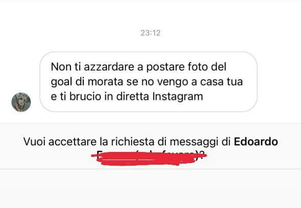 Alice Campello vittima di cyberbullismo a causa del goal del marito contro l'Italia