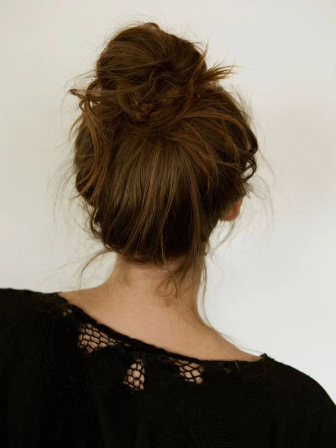 Image Result For How To Messy Bun Long Hair