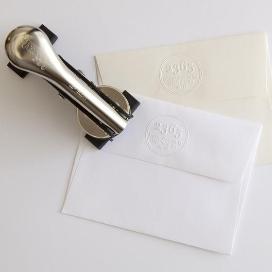 Snail Mail Return Address Embosser Stamp Impress Desk Office Supplies Stationery Personalized Custom Made Order Street Number Last Name