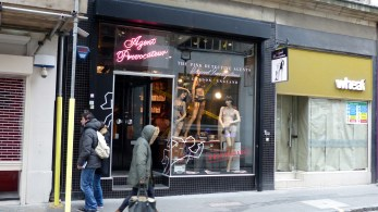 Agent Provocateur - just casually squeezed in between two cafes