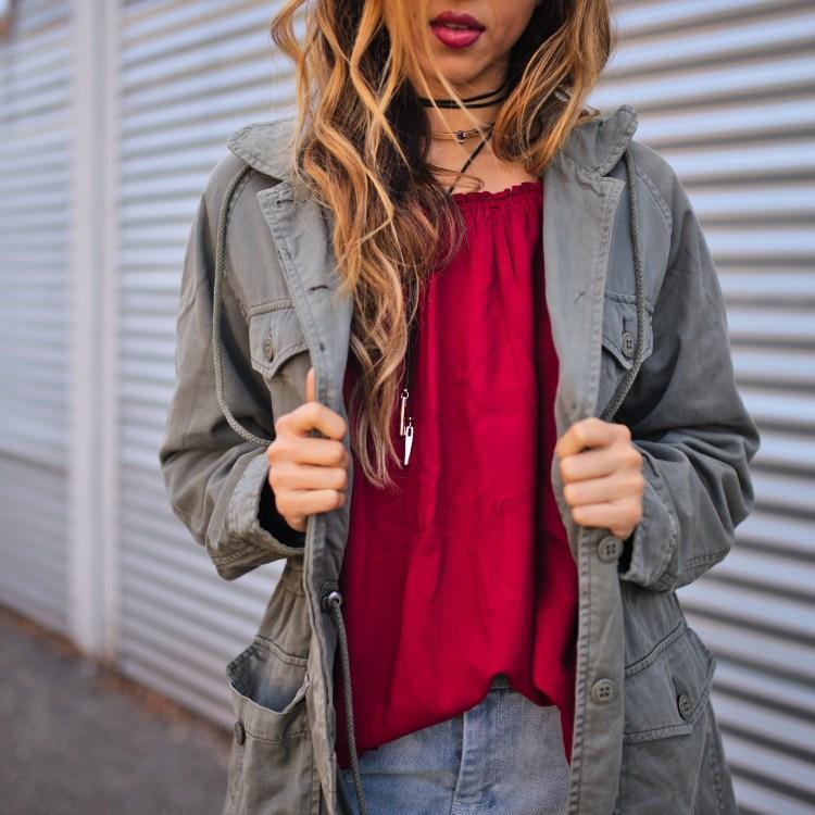 cuppajyo_style_travel_fashionblogger_sanfrancisco_bayarea_fallfashion_parkajacket_offtheshoulder_denimskirt_sanctuaryclothing_streetstyle_2