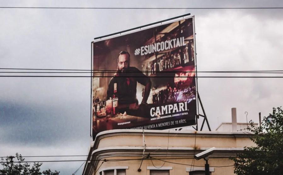 Argentinian alcohol brands apertifs argentina campari billboard mendoza south america beverages