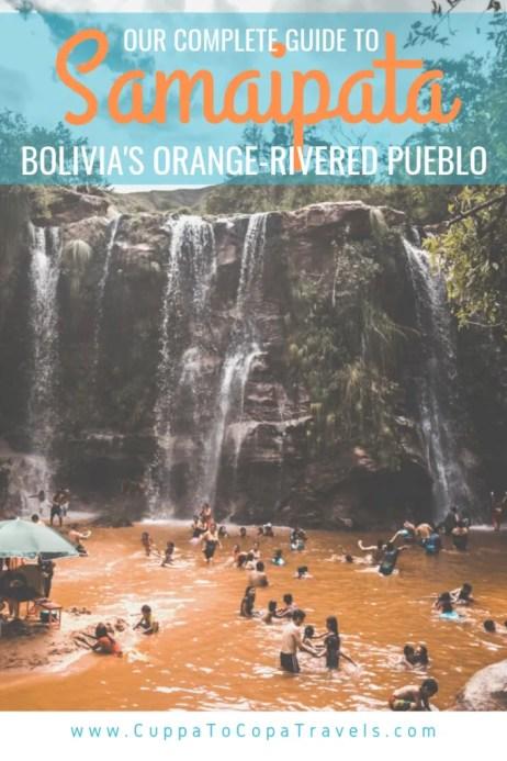 El Fuerte de Samaipata ruins and Las Cuevas waterfalls, Bolivia travel guide orange river