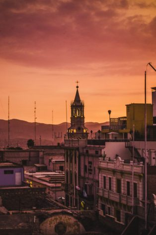 Arequipa at sunset | Why go to Peru | Bitesize country summary planning guide for your trip to South America | Cuppa to Copa Travels