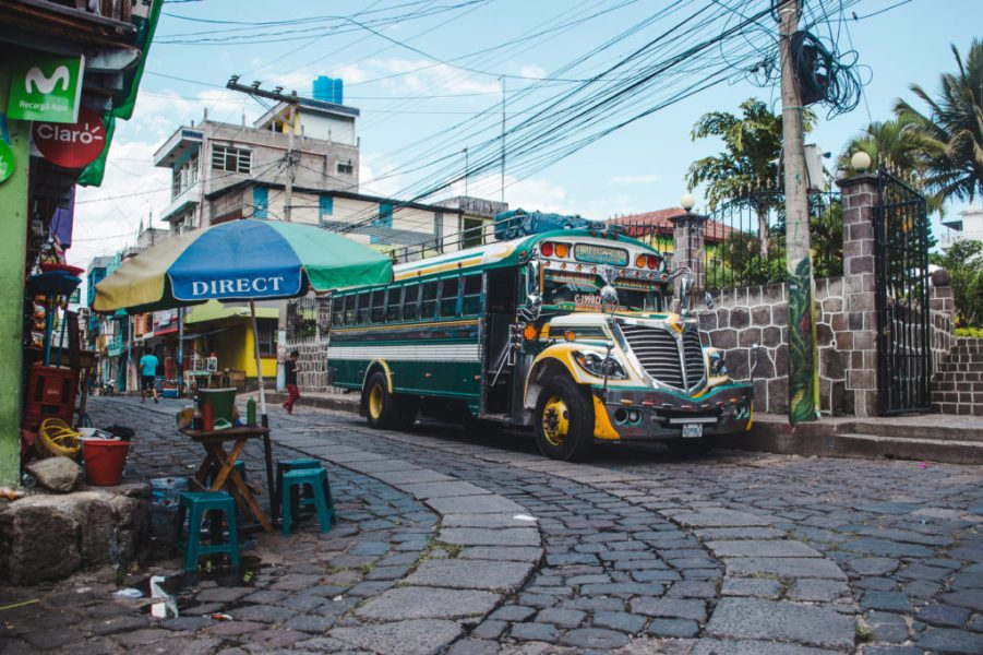 Guatemala chicken bus   Transport in Guatemala   Latin America travel guides by Cuppa to Copa Travels